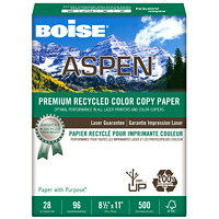 Boise Aspen Premium Recycled Colour Copy Paper, White, FSC Certified, 28 lb., 8 1/2
