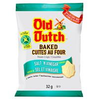 Croustilles Old Dutch, cuites au four, sel et vinaigre, 32g, caisse de 36