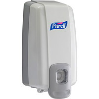 Purell NXT Space Saver Push-Style Hand Sanitizer Dispenser, Dove Grey, 1,000 mL Capacity