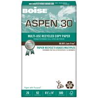 Papier recyclé à usages multiples Aspen 30 Boise, 20lb, format légal, emb. de 500