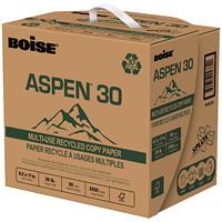 Papier recyclé à usages multiples dans une boîte à distribution rapide SPLOX Aspen 30 Boise, certifié FSC, 20 lb, 8 1/2 po x 11 po, caisse