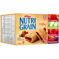 Kellogg's Nutri-Grain Cereal Bars, Assorted Flavours, 37 g, 32/BX