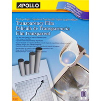 Apollo Premium Quality Letter-Size Transparency Film, 100/Bx