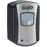 Gojo LTX Touch-Free Foam Hand Soap Dispenser, Chrome/Black, 700 mL Capacity