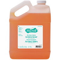 Micrell Antibacterial Lotion Hand Soap Refill with Chloroxylenol, Citrus Scented, 3.78 L