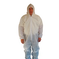 Dentec SMS White Protective Coveralls