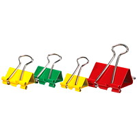 Grand & Toy Fold-Back Binder Clips, Assorted Colours and Sizes, 70/PK