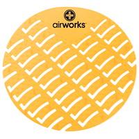 Tamis pour urinoir CAV/E Airworks, parfum d'agrumes, boîte de 10