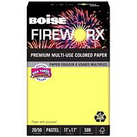 Papier couleur à usages multiples Fireworx Boise, certifié FSC, 20 lb, rame
