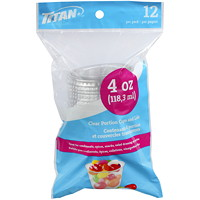 Titan Clear Portion Cups And Lids, 12/Pk