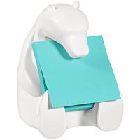 Distributeur de feuillets éclair 3 po x 3 po en forme d'ours polaire Post-it