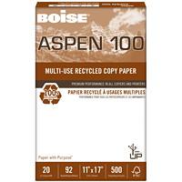 Papier recyclé de choix à usages multiples Aspen 100 Boise, 20 lb, Format tabloïde, rame
