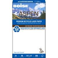 Boise Aspen 30% Premium Recycled Laser Paper, 24 lb., Legal-Size, Ream