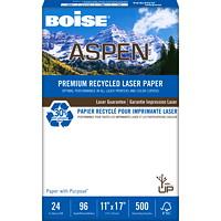 Boise Aspen 30% Premium Recycled Laser Paper, 24 lb., Tabloid-Size, Ream