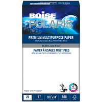 Boise Polaris Premium Multi-Purpose Paper, FSC Certified, 20 lb., 8 1/2