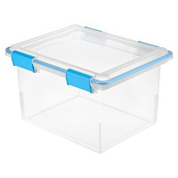 Sterilite Clear Latching 30 L Gasket Box