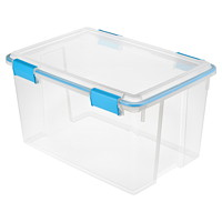 Sterilite Clear Latching 51 L Gasket Box