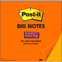 Post-it Super Sticky Big Notes, Orange, 15