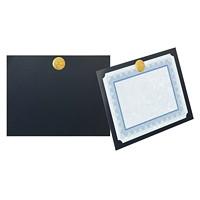 Élégante carte de présentation et porte-certificat à médaillon St. James