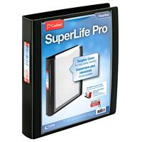 Reliure à anneaux en D inclinés et verrouillables Easy Open à couverture ClearVue SuperLife Pro Cardinal