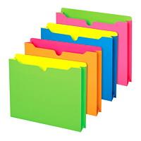Pochettes de classement de couleurs fluo Pendaflex, emb. de 10