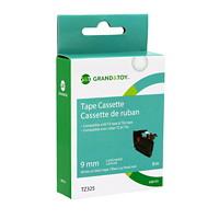 Cassette de ruban pour étiquettes TZe Grand & Toy, 9 mm (3/8 po) x 8 m