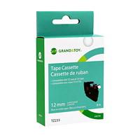 Cassette de ruban pour étiquettes TZe Grand & Toy, 12 mm (1/2 po) x 8 m