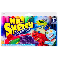 Mr. Sketch Scented Chisel-Tip Markers, 12/Pack