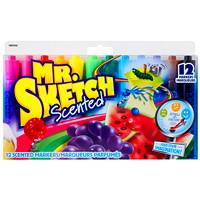 Marqueurs parfumés à pointe biseautée Mr. Sketch Sanford, 12 per package