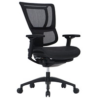 Eurotech iOO Mid-Back Synchro-Tilt Black Mesh Chair