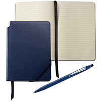 Cross Click Midnight Blue Ballpoint Pen With Midnight Blue Journal Gift Set