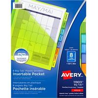 Intercalaires en plastique insérables avec pochette Big Tab Avery