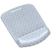 Fellowes PlushTouch Mouse Pad Wrist Rest, Grey Lattice