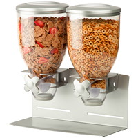 Honey-Can-Do Professional Dry Food Dispenser, Double Pro Model, Silver
