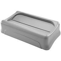 Rubbermaid Commercial Slim Jim Bin Lid, Swing Top, Grey