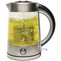 Hamilton Beach 1.7 L Glass Kettle with Tea Steeper