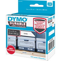 DYMO LabelWriter Durable Coated Polypropylene Shelving Labels