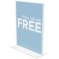 Deflecto Clear Sign Holder For letter-size (8 1/2