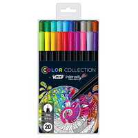 BIC Intensity Colour Collection Fineliner, Assorted Colours, Fine 0.4mm, 20/Pk