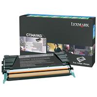 Cartouche de toner à rendement standard Lexmark Programme de retour (C734A1KG), noir