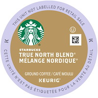 Starbucks Coffee Single-Serve K-Cup Pods, True North Blend, 24/BX