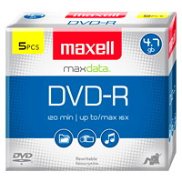 Maxell DVD-R 5-pack with Jewel Cases