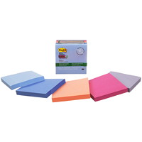 Post-it Super Sticky Recycled Notes In Bali Colour Collection, Unlined, 3