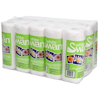White Swan 2-Ply Professional Kitchen Towels, White, 70 Sheets/Roll, 15/CS