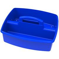 Grand bac de rangement à deuxcompartiments Storex, bleu