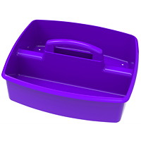 Storex Large 2-Compartment Storage/Organizing Caddy, Purple