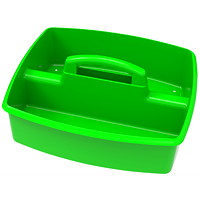 Storex Large 2-Compartment Storage/Organizing Caddy, Green