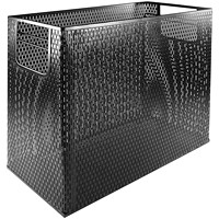 Artistic Urban Collection Black Punched Metal Desktop File
