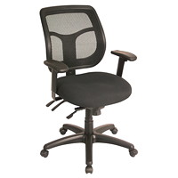 Eurotech Apollo Ratchet-Back Multi-Function Black Mesh Chair