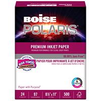 Papier pour imprimante à jet d'encre Polaris Boise, Certifié FSC, 24 lb, 8 1/2 po x 11 po, rame